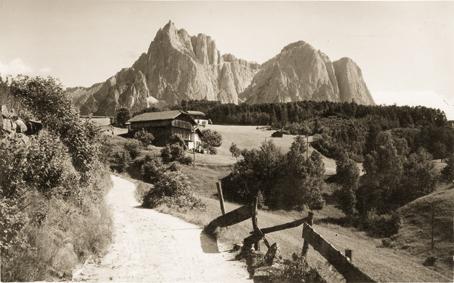Blick zum Schlern zwischen 1902 und 1924. © Autonome Provinz Bozen, Amt für Film und Medien