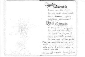 Zur Verfügung gestellt von Theresia Sanin, geb. Christof. Zeichnung ihrer italienischsprachigen Lehrerin in ihr Poesiealbum.