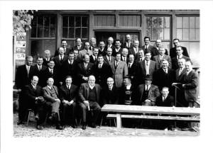 Treffen einer Wehrmachtseinheit, 1970. Foto zur Verfügung gestellt von Walter Silbernagl (1. Reihe, 4. v. links)
